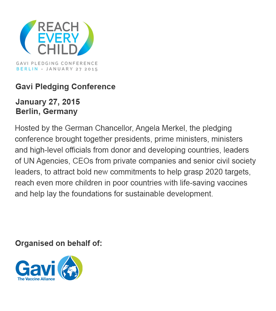 Gavi Pledging Conference  Icwe