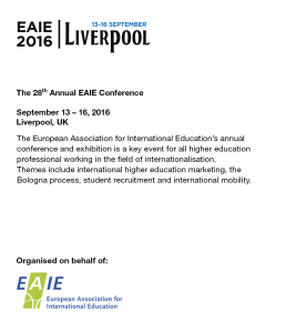 EAIE 2016 exhibition ICWE client